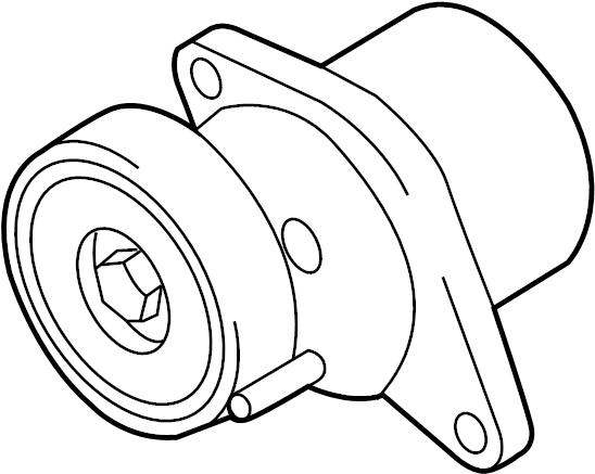 2016 Audi Q5 Belt tensioner. BELTDAMPER. Mount bracket