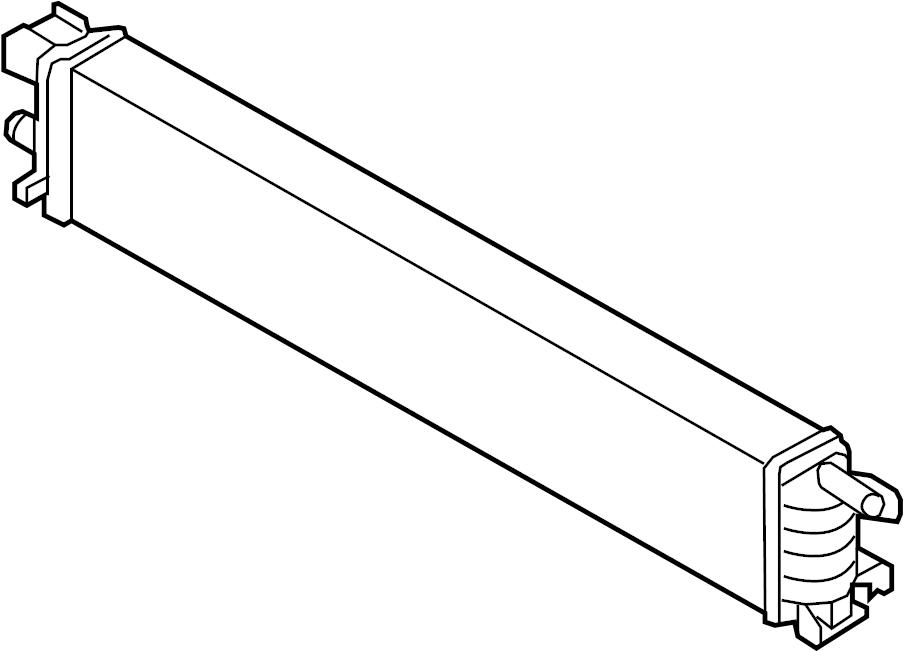 2015 Audi Auxiliary radiator. Intercooler. Center, left