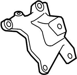 2009 Audi A4 Base Sedan 2.0L A/T Quattro Bracket. Support