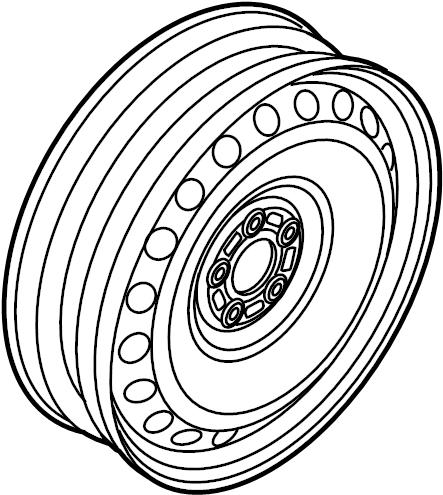 Audi A4 Spare wheel. WHEEL DISC. WHEELS, TRIM, COVERS
