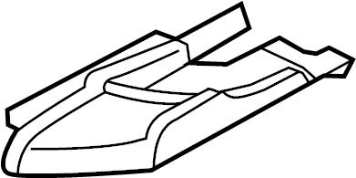 Audi A5 Seat Belt Guide. CONVERTIBLE, gray. Gray. Left