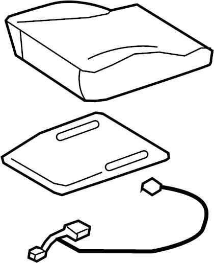 Audi A5 Air Bag Seat Sensor Mat. CUSHION, COMPONENTS