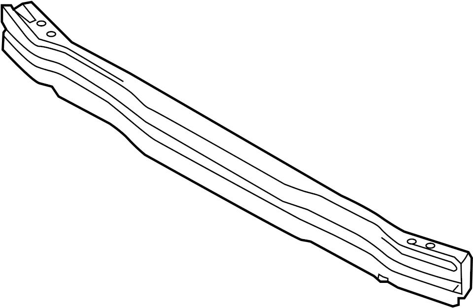 2009 Audi S5 Bumper Impact Bar. FRONT, Pkg, LINE