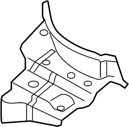 Audi A5 Shield. Heat. EXHAUST. Floor Pan. PLATE. Resonator