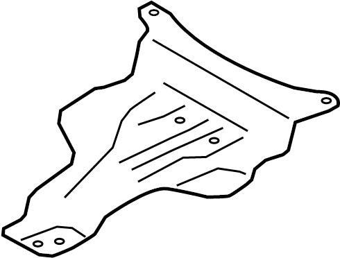 Audi A4 Tank. Fuel. Bracket. Shield Bolt. Skid Plate