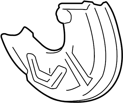 1997 Audi Backing plate. Shield. Splash shield. Audi