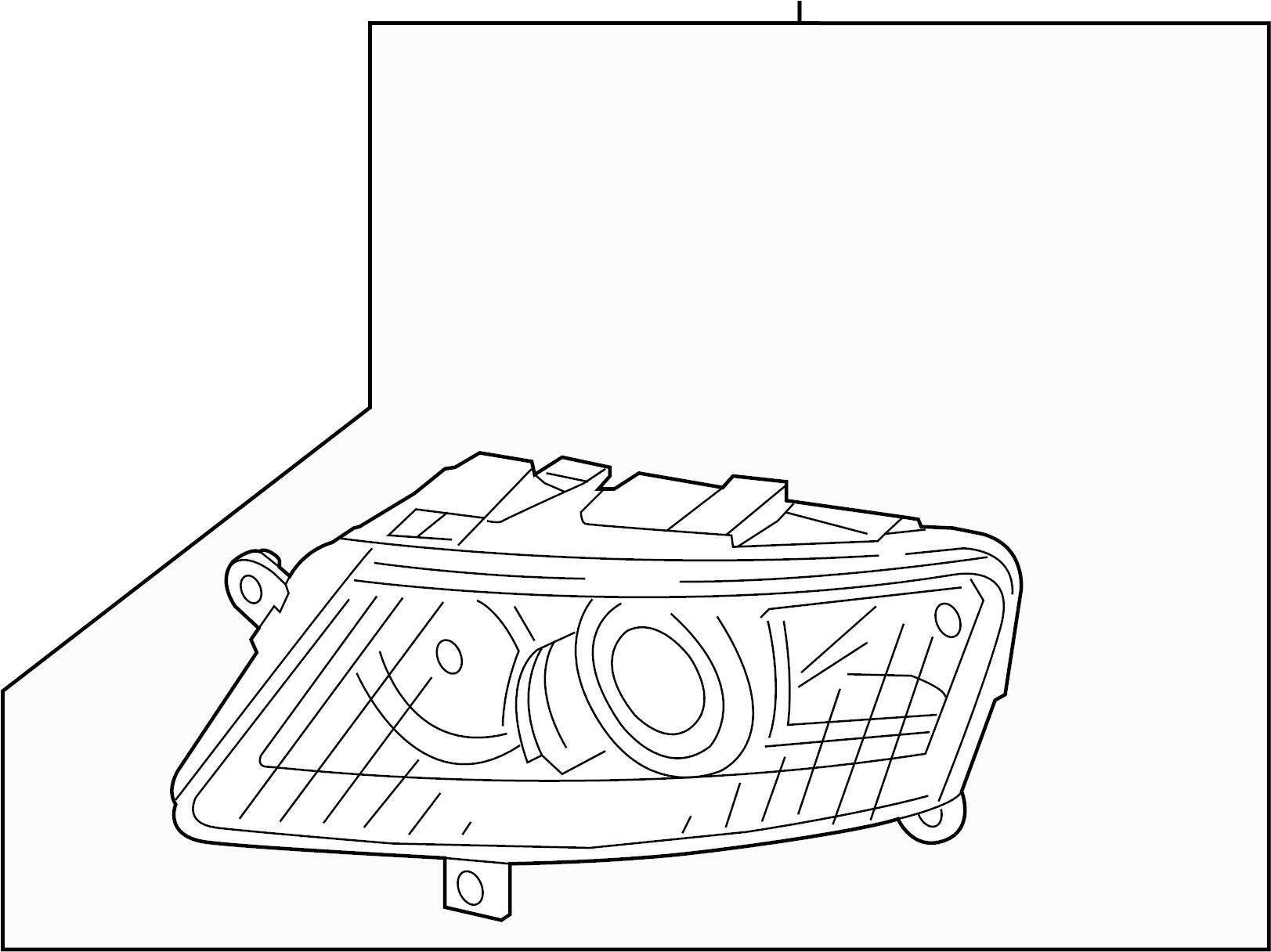 Audi A6 Headlight. 2005-08, W/XENON HEADLAMPS, W/O