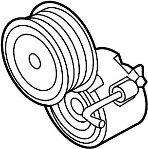 2009 Audi Belt tensioner. Beltdamper. Idler pulley