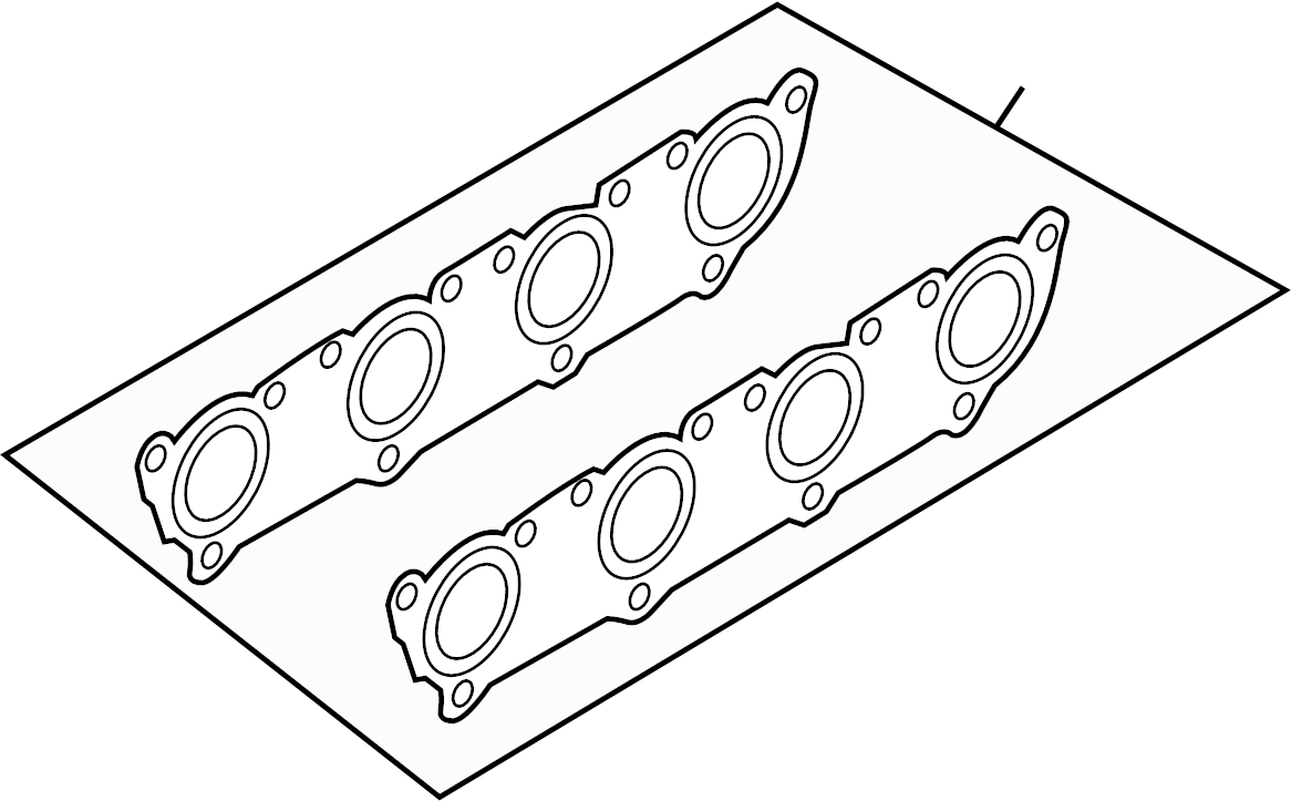 Audi allroad Exhaust manifold gasket. LITER, SYSTEM