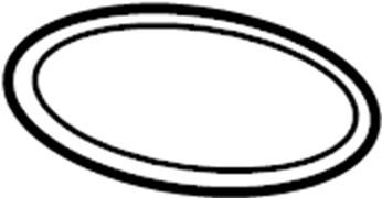 Audi A6 Fuel Tank Access Cover Gasket. Trunk Floor Access