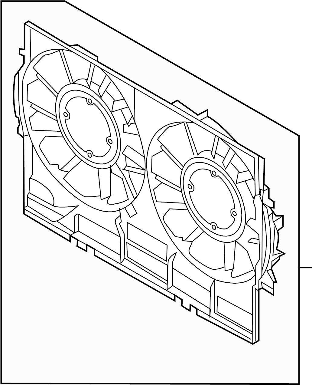 Audi Q5 Shroud Fan Cowl Engine Cooling Front Duct
