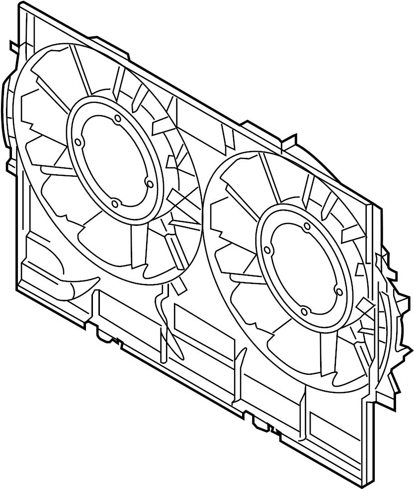 2015 Audi Q5 Engine Cooling Fan Shroud (Front). LITER, Gas