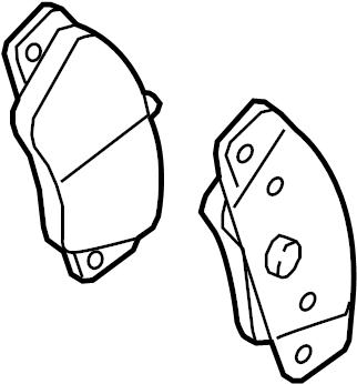 Audi A6 Disc Brake Pad Set (Front). Pads, BRAKES, Wear