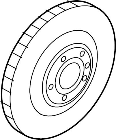 2014 Audi A4 Disc Brake Rotor. BRAKES, Make, Steering