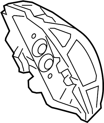 Audi A6 Disc Brake Caliper. BRAKES, Red, Right