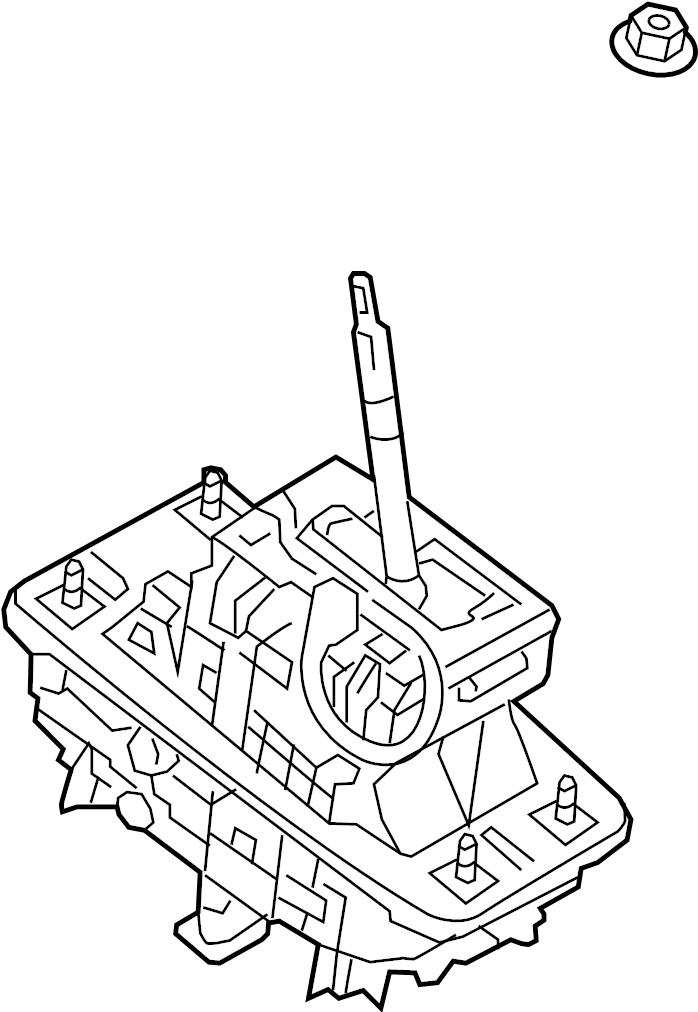 Audi A7 Automatic Transmission Shift Lever. Housing
