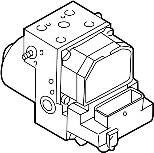 2001 Audi S4 Abs control unit. Abs pump assy. Absunit
