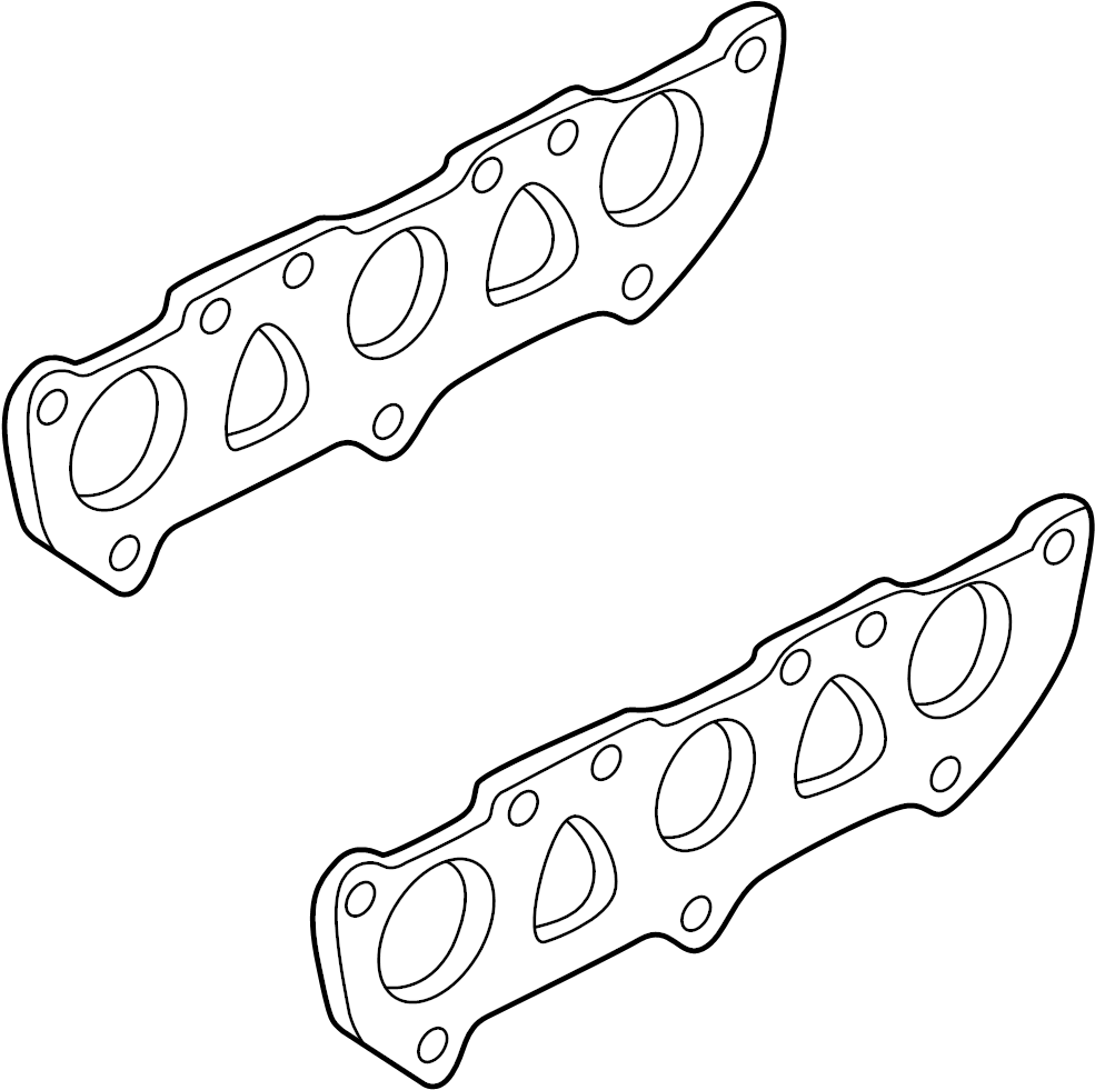 Audi A6 Exhaust manifold gasket. From 03/1998. From 04