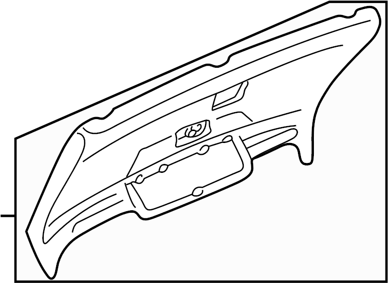 Audi A6 Liftgate Trim Cover (Lower). Black. Warning