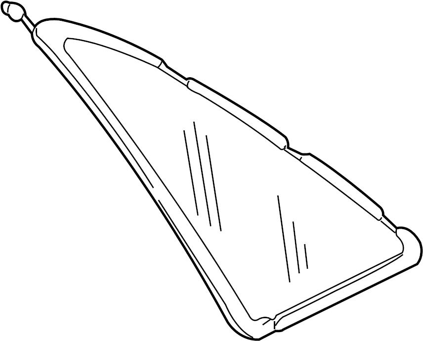 Audi A8 Quarter Glass. Audi, w/o insulated glass. Windows