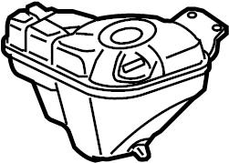 2008 Audi A8 L Sedan 4.2L V8 A/T Quattro Engine Coolant
