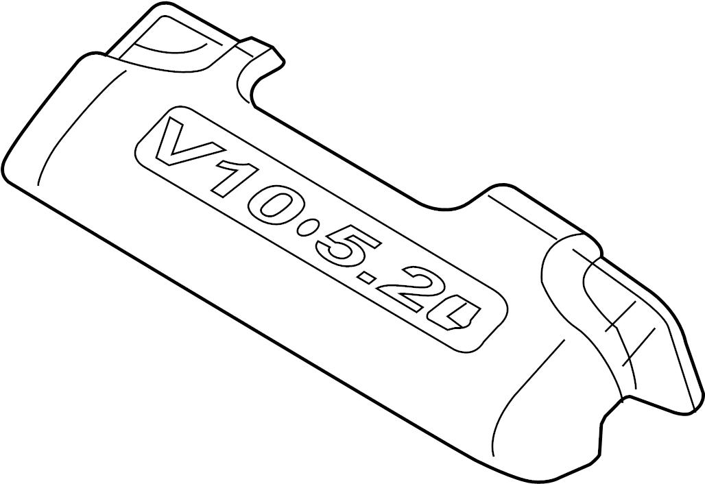 2007 Audi S8 Base Sedan 5.2L V10 A/T Engine Cover. FRONT