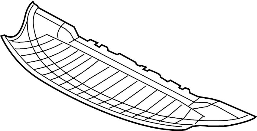 2014 Audi Bumper Splash Shield (Front, Lower). 2011-14