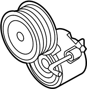 2012 Audi Belt tensioner. BELTDAMPER. Idler pulley