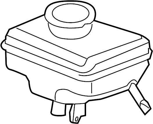 Audi A4 Brake Master Cylinder Reservoir. PANEL, COMPONENTS