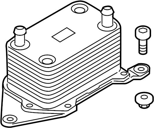 2009 Audi R8 Base Coupe 4.2L V8 M/T Engine Oil Cooler