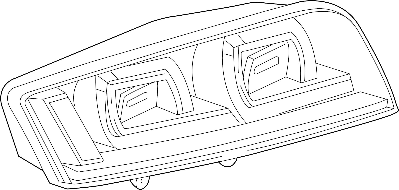 2011 Audi R8 Base Coupe 5.2L V10 M/T Tail Light Assembly