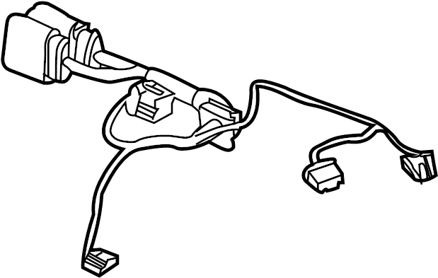 2011 Audi R8 Hvac system wiring harness. Hvac system