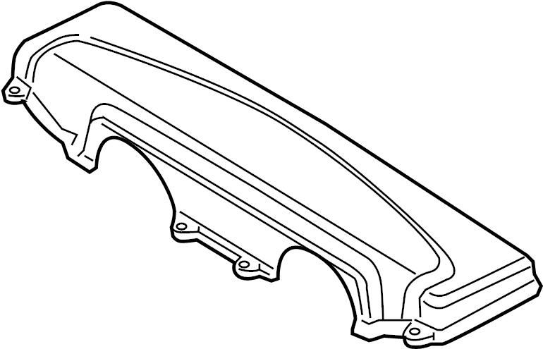2011 Audi R8 Base Coupe 5.2L V10 M/T Air Filter Housing
