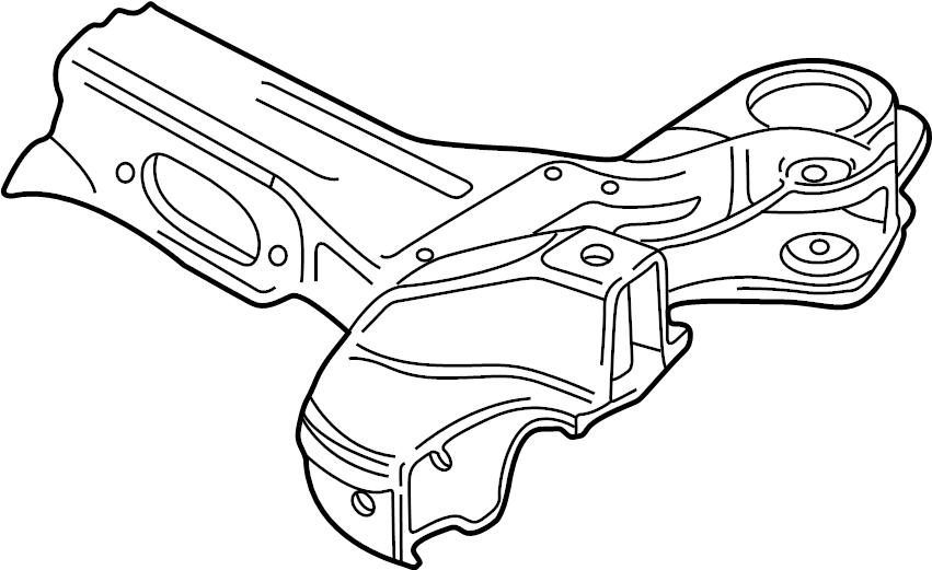 2001 Audi TT Suspension Subframe Crossmember (Upper). AWD