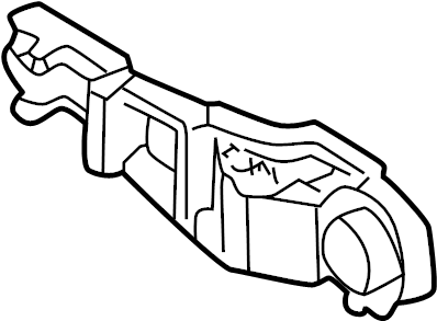 Audi TT Exterior Door Handle Base. Right, Front, VIN