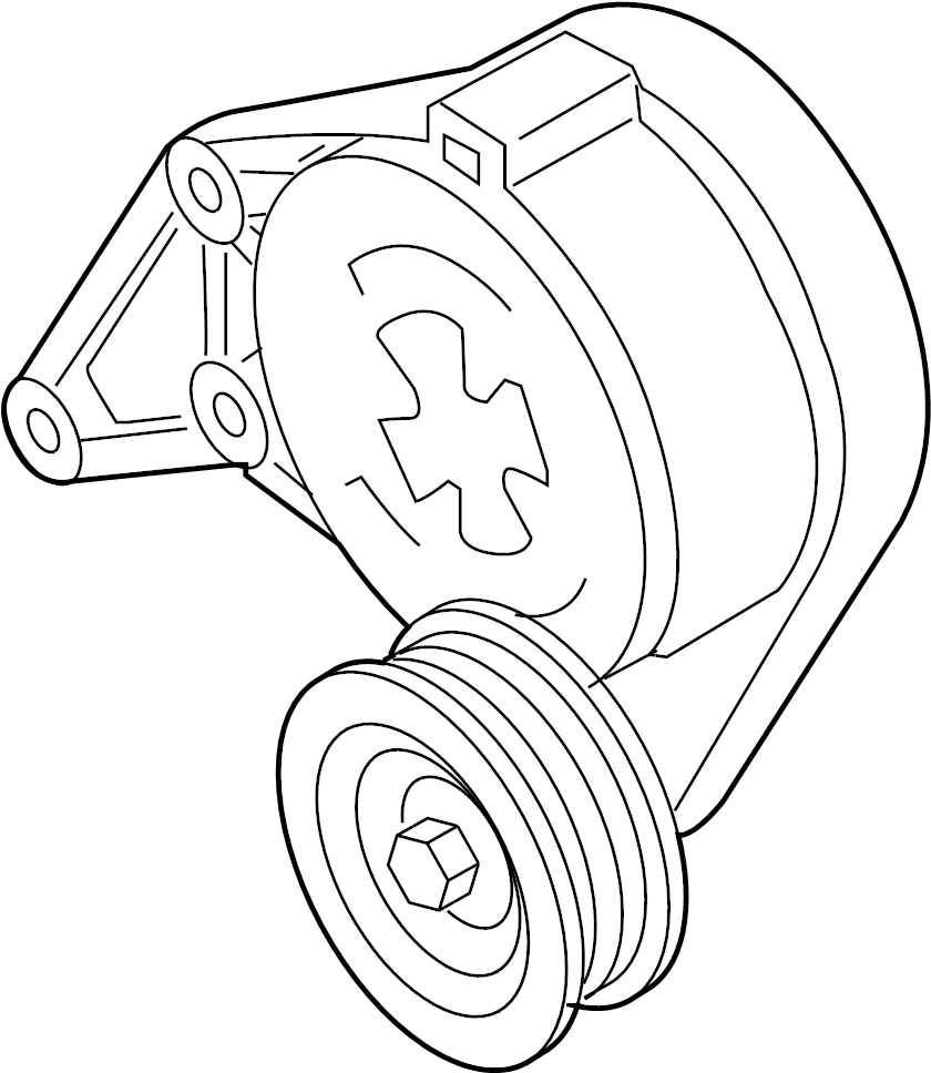 2005 Audi Accessory Drive Belt Tensioner Assembly