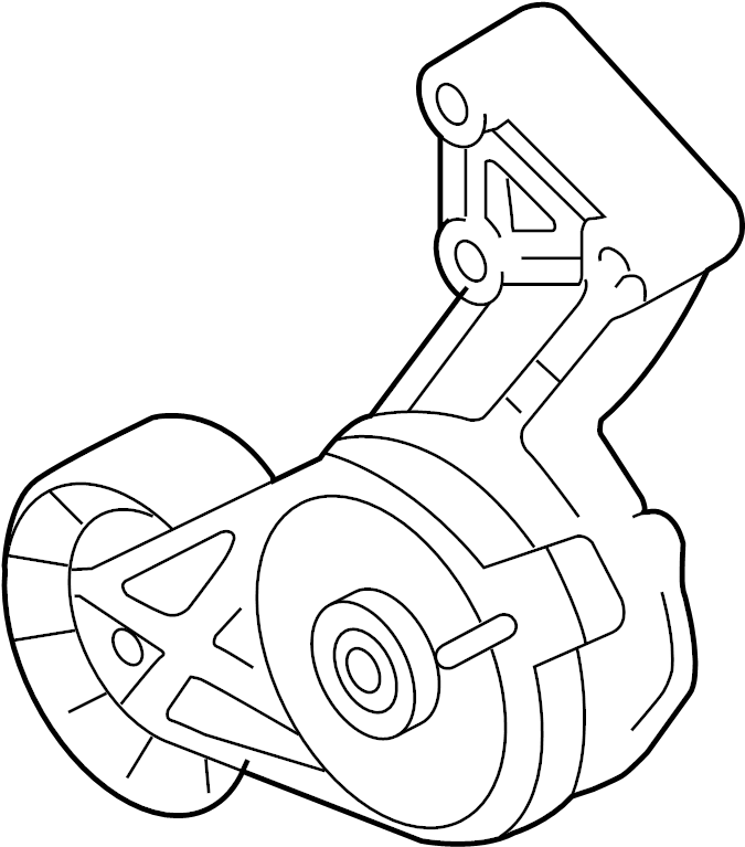 2012 Audi Accessory Drive Belt Tensioner Assembly. WAWD