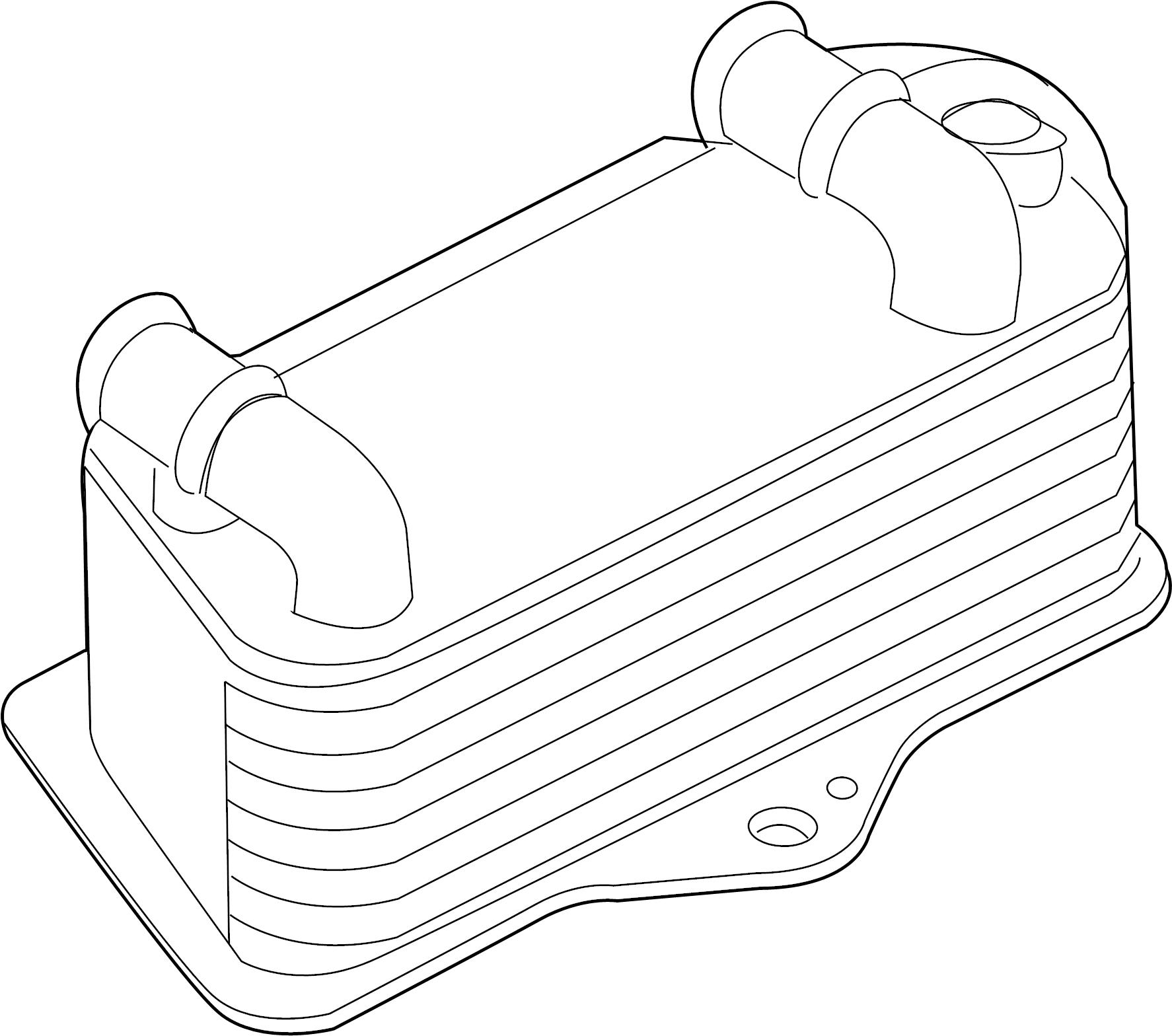 Audi TT Automatic Transmission Oil Cooler. 2009-2010 W/AWD