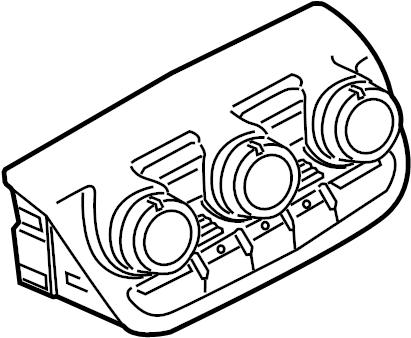 2009 Audi TT Base Coupe 2.0L A/T FWD Dash control unit