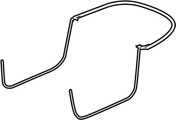 2009 Audi TT Door seal. W'strip on body. Pkg, top, load