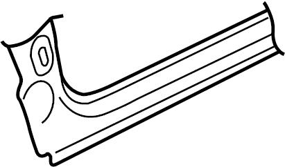 2009 Audi TT Body A-Pillar (Lower). Rocker, Right, Panel
