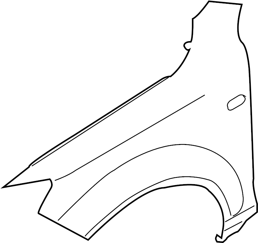 2007 Audi Q7 Fender (Front). Engine, Pkg, Diesel