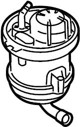 2007 Audi Q7 Flange. Fuel filter. Fuel pump filter