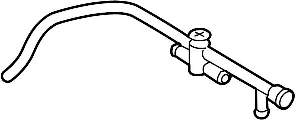 Audi Q5 Engine Coolant Pipe (Rear). DIESEL, RETURN, LITER