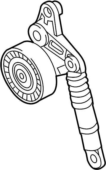 Audi Q7 Accessory Drive Belt Tensioner Assembly. DIESEL