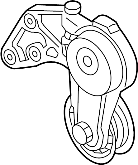 2007 Audi Accessory Drive Belt Tensioner Assembly