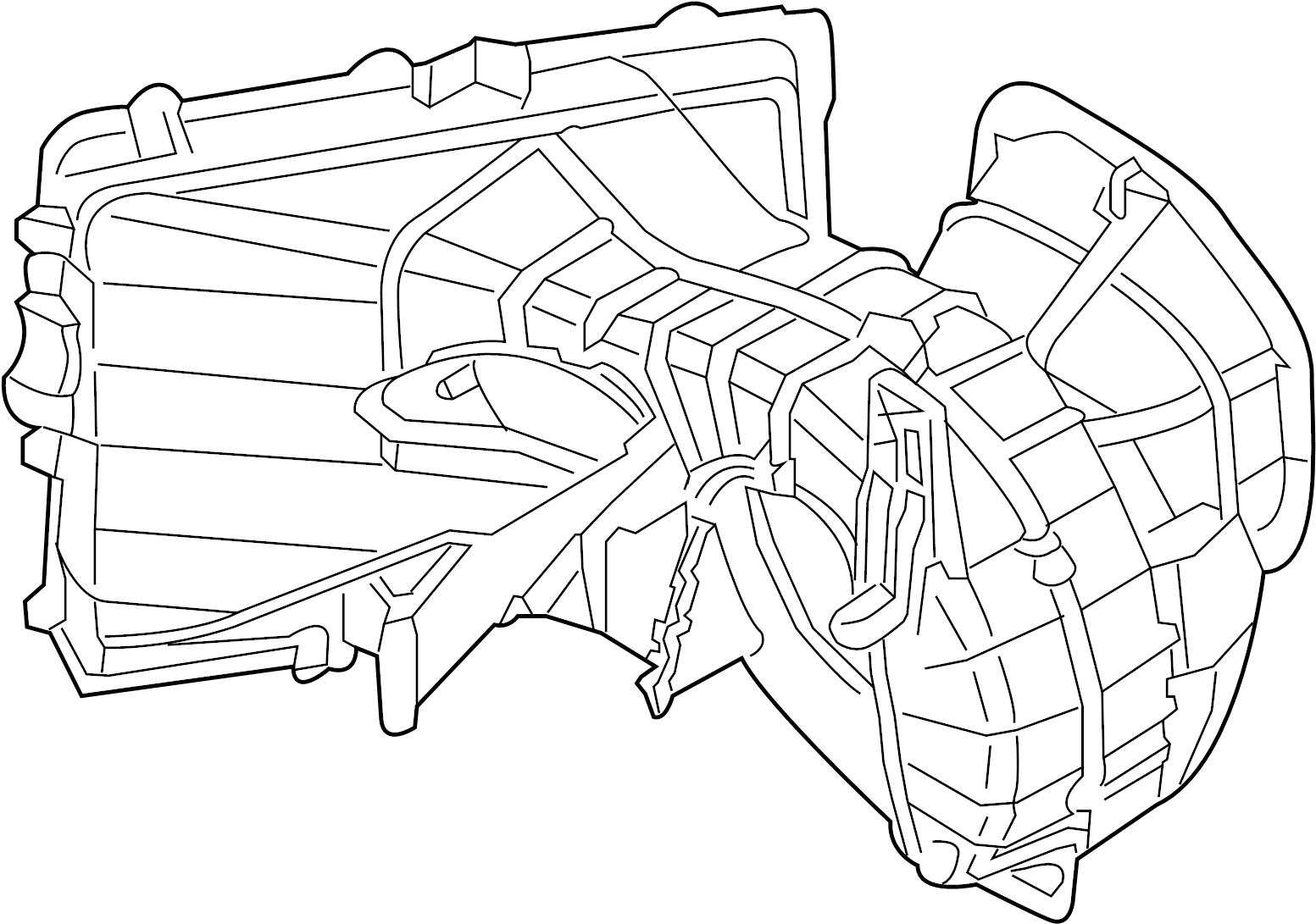 2013 Audi Q7 Hvac blower motor housing. Blower case. Hvac