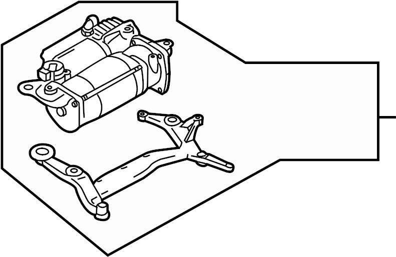 2014 Audi Q7 Air Suspension Compressor. RIDE, Rear, UPPER