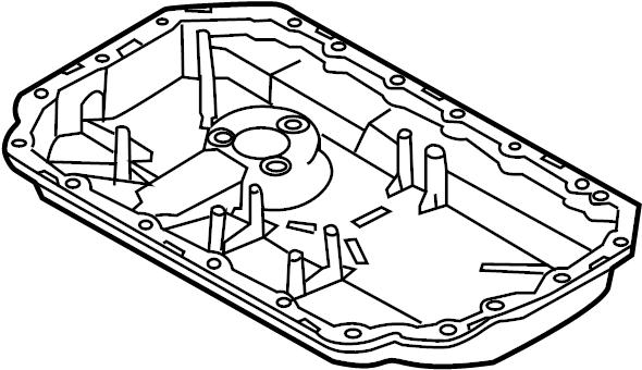 2009 Audi A4 Base Sedan 3.2L V6 A/T Quattro Engine Oil Pan