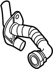 2009 Audi Breather tube. PCV Valve Hose. VENTHOSE. 3.6